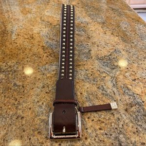 MICHAEL KORS Belt Brown with Gold Studs
